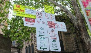 Parking sign Sydney