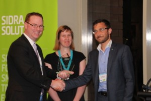 Sustainable Transport Award: City of Melbourne. Accepted by Anne Laing and Damon Rao, presented by Tim Absalom