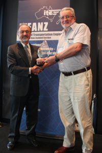 Andrew O'Brien receives a special commendation from ITEANZ President , Nick Szwed