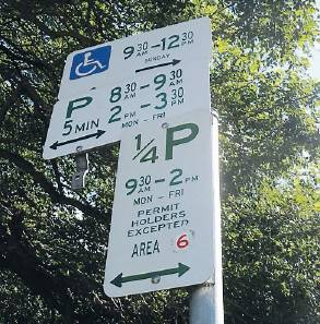 Parking signs NS